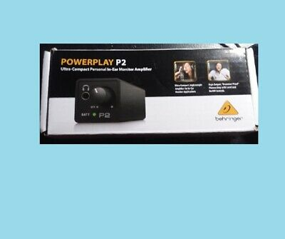 Behringer Powerplay P2 Ultra-Compact In-Ear Monitor Amplifier Headphone Amp  • 33.57£