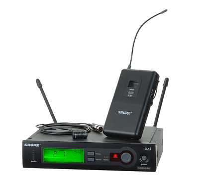Shure SLX14/84 Wireless Lavalier Microphone System - G4 Band NEW CLEARANCE!