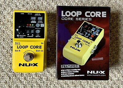 Nux Loop Core Effects Unit Guitar Looper Pedal (hardly Used) • 49£