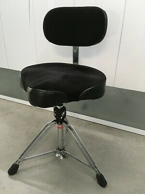 Gibraltar 9608MB Drum Throne With Motorcycle Seat And Backrest. EXC  ! • 114.96£