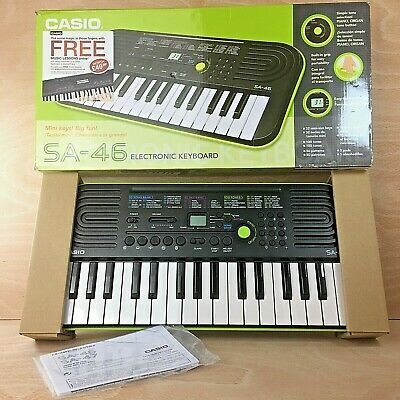 Casio SA-46 32 Mini-Keys Electronic Keyboard In Green Box With Instructions • 24.50£