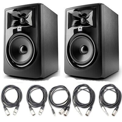 JBL 305P MkII 5' Recording Studio Monitor Speakers With 5 AxcessAbles Cables • 251.30£