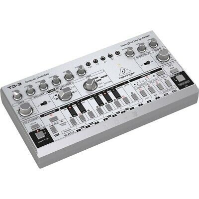 Behringer TD-3 Analog Bass Line Synthesizer With Sequencer And Distortion Silver • 114.96£