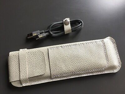 Hand Made Textured Leather Case For Teenage Engineering OP–Z - Peal White • 35£