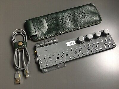 Hand Made Leather Case For Teenage Engineering OP–Z Sequencer - Forrest Green • 35£
