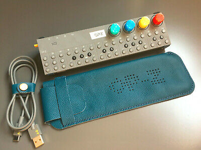 Hand Made Leather Case For Teenage Engineering OP–Z Sequencer - Blue • 35£