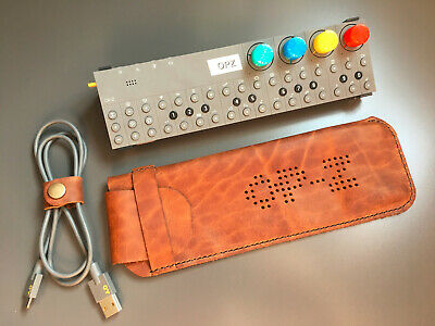 Hand Made Leather Case For Teenage Engineering OP–Z Sequencer - Waxy Brown • 35£