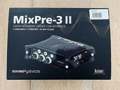 Sound Devices MixPre-3 II 3-Channel / 5-Track Multitrack 32-Bit Field Recorder  • 788.49£
