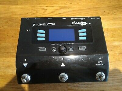 TC Helicon Play Acoustic Vocal FX And Guitar FX Pedal & Switch 3 & Flight Case • 249£