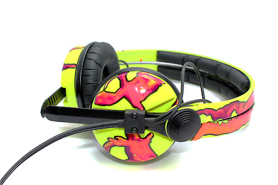 UV Yellow And Red Lava Detail Sennheiser HD25 Headphones By Custom Cans • 199£