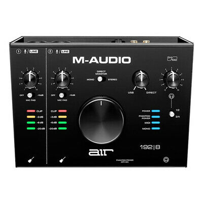 M-Audio AIR 192 8 4-In 4-Out 24/192kHz USB Audio MIDI Interface  • 175£