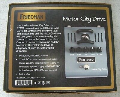 Friedman Motor City Drive Brand New Boxed (two Left) First Unit. • 189.99£