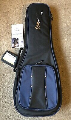 Tom and Will Soprano Ukulele Padded Gig Bag In Black/Blue Brand New With Tags