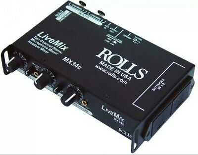 Rolls MX34C Live Mix 2-channel AV Mixer • 65.09£