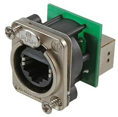 In-Line Adapter, Feed-Through, Cat5e, RJ45, RJ45, Adaptor, In-Line, EtherCON D S • 20.97£