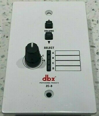 DBX ZC8 Wall Mount Zone Volume Control & Source Selection Plate • 32.56£