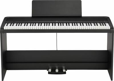 Korg B2SPBK 88-Key Digital Piano With Stand And Three Pedal System Black • 424.55£