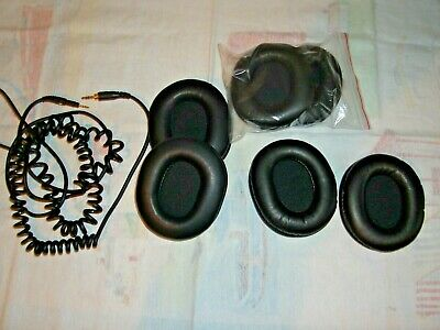 6 USED Ear Pads For Audio-Technica ATH-M50X M40x Headphones And Coiled Lead • 19.99£