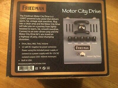 Friedman Motor City Drive Perfect Condition Best Marshall Tone Ever • 125£