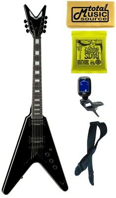 Dean V Select 7 String Electric Guitar, Classic Black, V SEL 7 CBK, Bundle • 692.55£