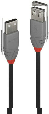 LINDY 36705 USB 2.0 Type A Extension Cable, Anthra Line - Grey, 5m  • 19.97£