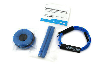 Sennheiser HD25 Blue Pads Set With Custom Cans Adidas Blue Cable Wrap Kit • 29£