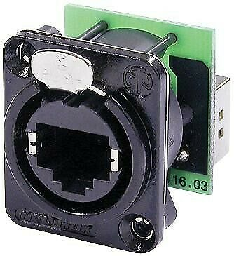 In-Line Adapter, Feed-Through, Cat5e, RJ45, RJ45, Adaptor, In-Line, EtherCON D S • 21.76£