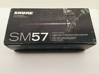 Shure SM57 Cardioid Dynamic Instrument Microphone- Open Box Never Used-Clip&Pouc • 60.22£