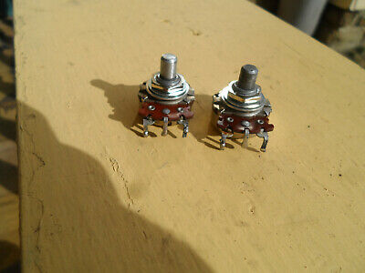 Vintage matched set of 1967 250K Stackpole pots for Telecaster P Bass Mustang