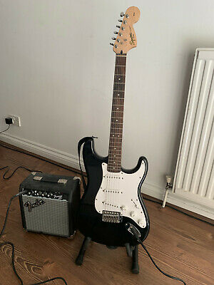 Fender Squire Stratocaster Pack With Fender Frontman 10G Amp, Gig Bag, Cables • 32£