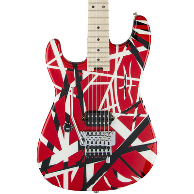 EVH Striped Series Left-Handed R/B/W - Red, Black, And White • 894.19£