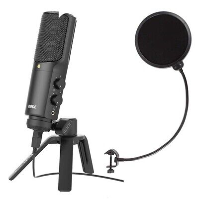 Rode NT-USB Recording, Podcast USB condenser microphone W/ Microphone Pop Filter