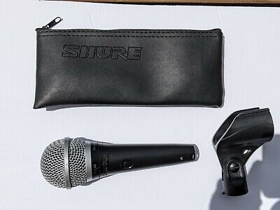 Shure PGA48 Cardioid Dynamic Vocal Microphone, holder and bag