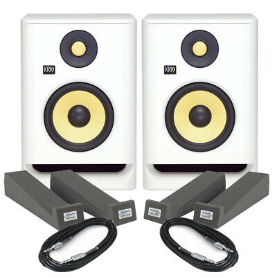 KRK Rokit RP5 G4 White Noise (Pair) With Pads & Cables • 274£