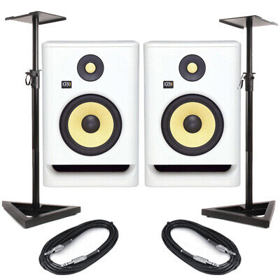 KRK Rokit RP7 G4 White Noise (Pair) With Stands & Cables • 379£