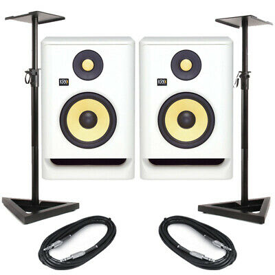 KRK Rokit RP5 G4 White Noise (Pair) With Stands & Cables • 307.50£