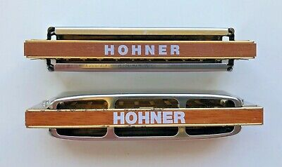 (2) M. HOHNER Harmonicas Made in Germany Marine Band & Blues Harp FREE Shipping