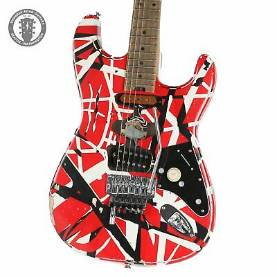 2021 EVH Striped Series Frankenstein  Frankie  Red And White - Used • 1,365.84£