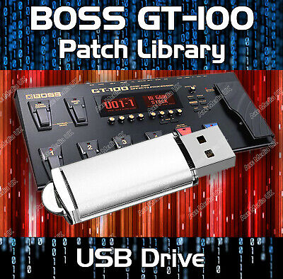 Boss GT-100 Guitar Effects Pedals - Pre-programmed sounds tone patches 5,500+