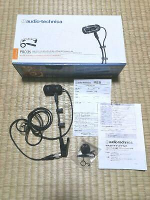 Audio Technica PRO35XcW Back Electret Condenser Type Instrument Microphone