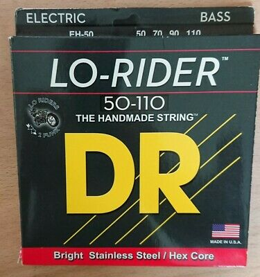 DR EH-50 Lo-Rider Stainless Bass Guitar Strings Heavy 50-110