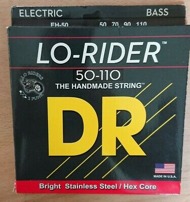 DR Lo-Rider Stainless Bass Guitar Strings Heavy 50-110