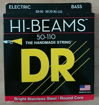 DR ER-50 Hi-Beams Round Core Bass Stainless 4-String 50-110 Heavy