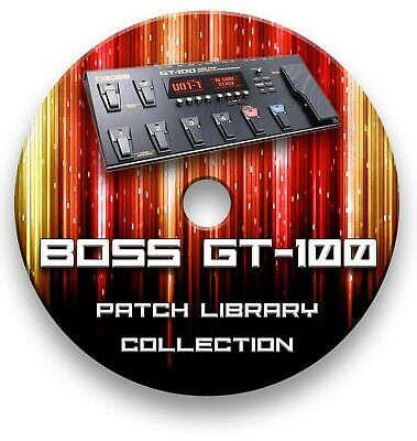 Boss GT-100 Guitar Effects Pedals - Pre-programmed sounds tone patches 5,500+ CD