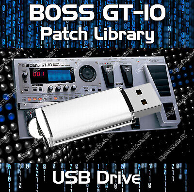 Boss GT-100 Guitar Effects Pedals - Pre-programmed sounds tone patches USB