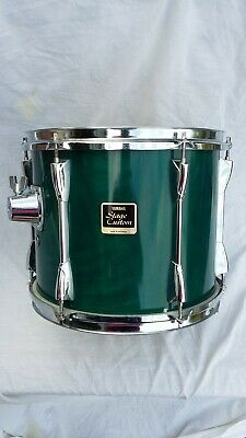 """Used Yamaha Stage Custom 12"""" Tom, Lacquer Dk Green With Le Blond Hard Case. Vgc"""