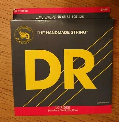 DR MH6-30 Lo-Rider Stainless Bass Guitar Strings 6 String Medium 30-125