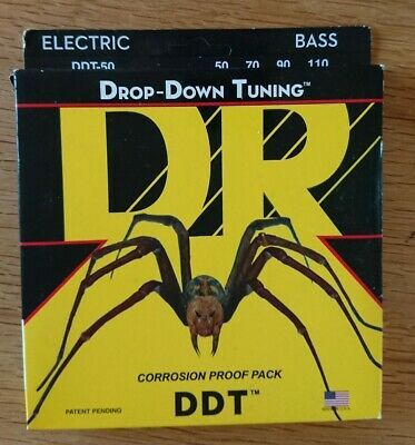 DR DDT-50 Stainless Bass Guitar Strings Heavy 50-110