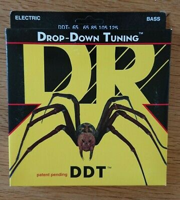 DR DDT-65 Stainless Bass Guitar Strings ExtraHeavy 65-125