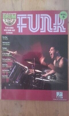 Hal Leonard Drum Play-Along Volume 5 Funk. Not Used - Very Good Condition